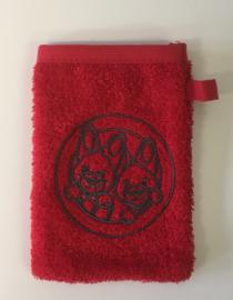 Little Triki's mini-washandje, kleur rood
