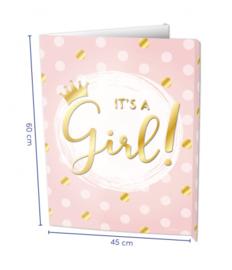 "Window-sign ""It's a girl!"" (45 X 60 cm)"