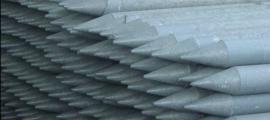 Kunststof ronde ECO palen grijs met punt