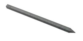 ECO-line staalversterkte paal met punt 9x9x290cm (grijs/bruin)