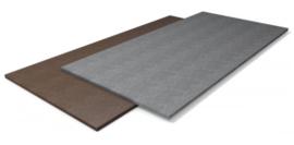Kunststof plaat (bruin/grijs)