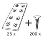 Govafix Verbindingsplaat (per 25)