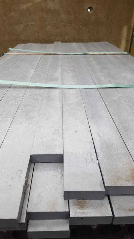 ECO kunststof plank 2 x 6 x 150 cm