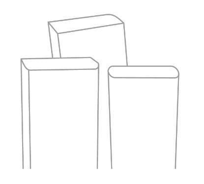 Planken met afgronde hoeken
