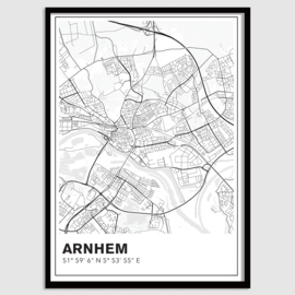 Arnhem stadskaart - lijnen