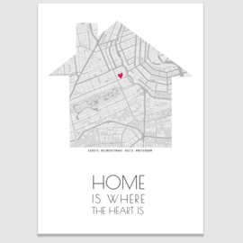 Huis - Home and heart poster
