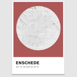 Enschede stadskaart - potloodschets