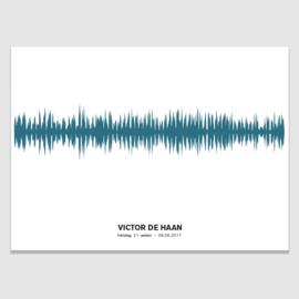 Soundwave poster  baby hartslag - in 20 kleuren