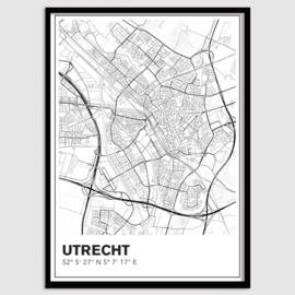 Utrecht stadskaart - lijnen