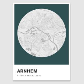 Arnhem stadskaart - potloodschets