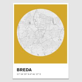 Breda stadskaart -  potloodschets - 20 kleuren