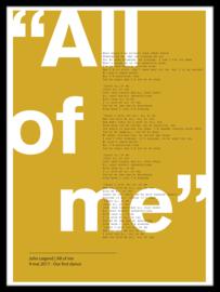 Songtekst poster van lied naar keuze - 20 kleuren