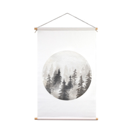Kerstbomen textielposter 1