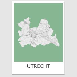 Poster plattegrond Utrecht - 20 kleuren