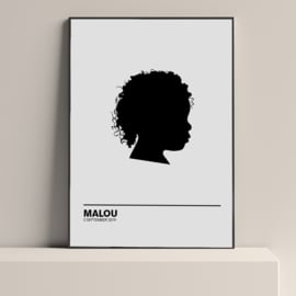 Silhouette poster van een foto