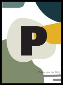 Letter poster - abstract - koel