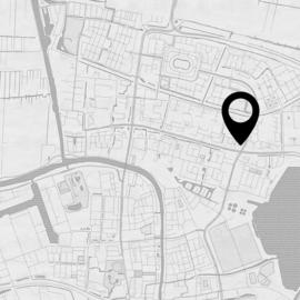 Stadskaart van jouw stad  - potloodschets