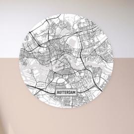 Stadskaart - wandcirkel