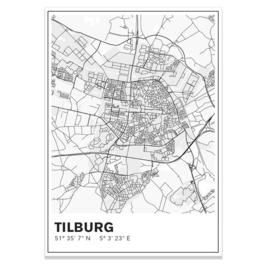 Tilburg stadskaart - lijnen