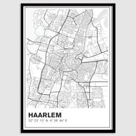 Haarlem stadskaart - lijnen