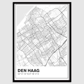 Den Haag stadskaart - lijnen
