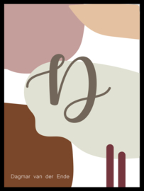 Letter poster - abstract - warm