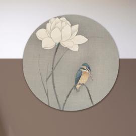 Art: Vogel en lotus - wandcirkel
