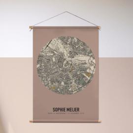 Retro stadskaart - textielposter