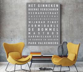 Gepersonaliseerde tekstposter van jouw stad
