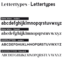 Letter - wandcirkel