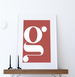 Letter poster - voorbeeld G