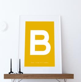 Letter poster - voorbeeld B