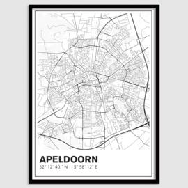 Apeldoorn stadskaart - lijnen