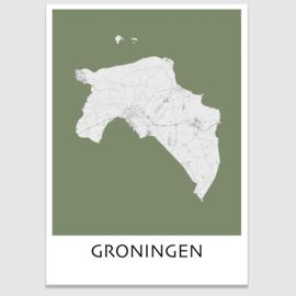 Poster plattegrond Groningen - 20 kleuren