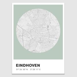 Eindhoven stadskaart - potloodschets - 20 kleuren