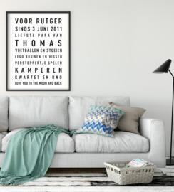 Vaderdag: Tekstposter met eigen tekst