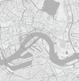 Rotterdam stadskaart - potloodschets - 20 kleuren