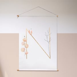 Blooming letters - textielposter