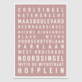 Tekstposter highlights Rotterdam - 20 kleuren