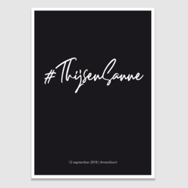Persoonlijke Hashtag poster
