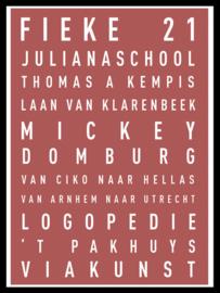 Verjaardag tekstposter