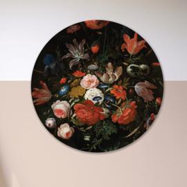 Stilleven: bloemen 2 - wandcirkel