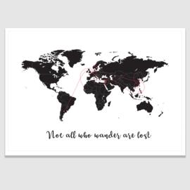 gepersonaliseerde wereldkaart poster - 20 kleuren