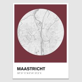 Maastricht stadskaart  - potloodschets - 20 kleuren