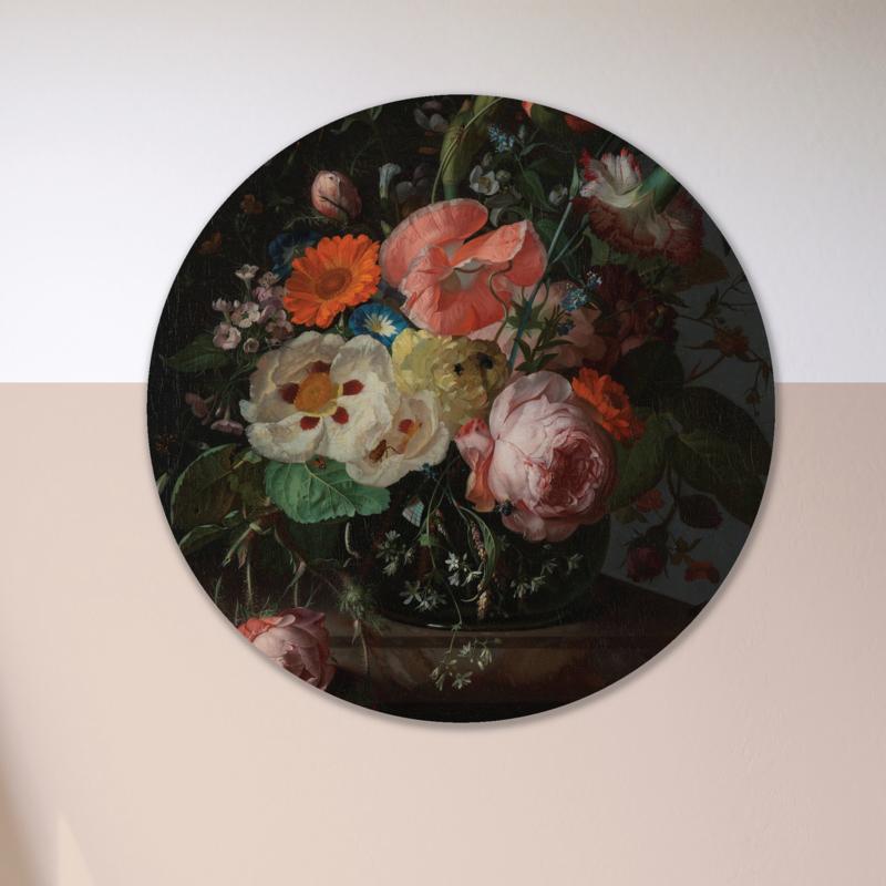 Stilleven: bloemen 1 - wandcirkel