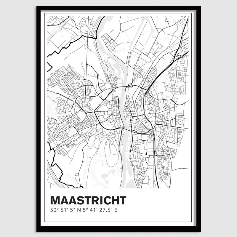 Maastricht stadskaart - lijnen