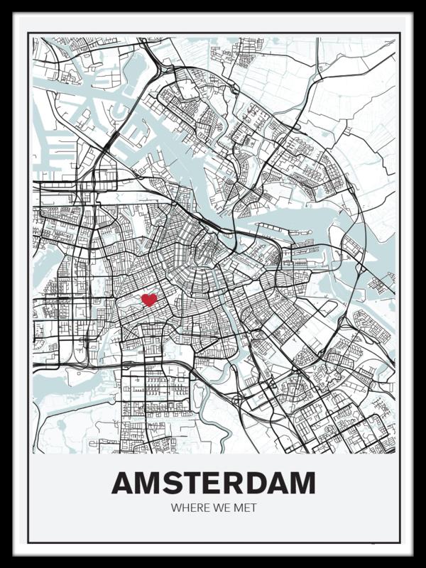 Persoonlijke stadskaart - hint of blue
