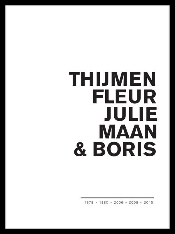 Namen poster