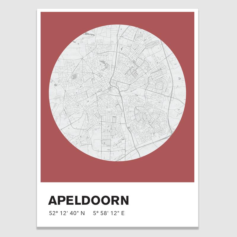 Apeldoorn stadskaart - potloodschets