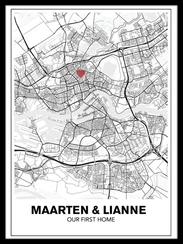 Persoonlijke stadskaart